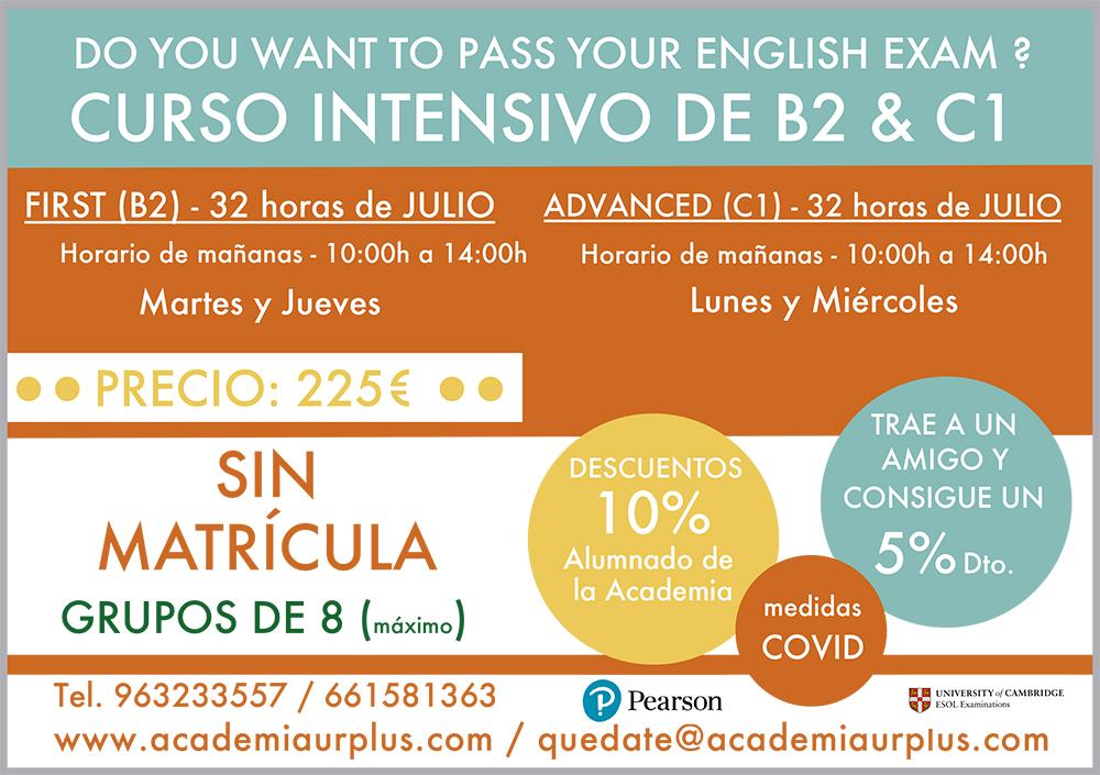 cursos intensivos de inglés Valencia